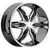 Viscera VSC 778 Chrome with Black Inserts 28 X 9.5