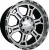 V-Tec 372 RAPTOR 20X9.5 gloss black machined face & lip