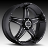 V-Tec Wizard 395 Black Machined Wheel Packages