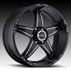 V-Tec Wizard 395 Black Machined 17 X 8.5 Inch Wheels