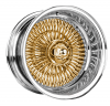Warrior Wire Wheels WGC 15X7 Gold Center