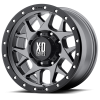 XD Series XD127 Bully 15X8 Matte Gray with Black Rimg