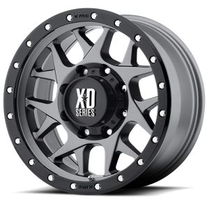 XD Series XD127 Bully 16X8 Matte Gray with Black Rimg