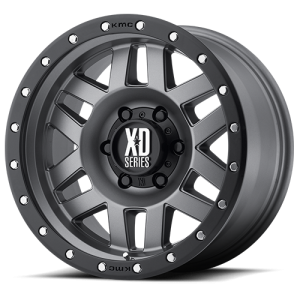XD Series XD128 Machete 17X8.5 Matte Gray with Black Rimg