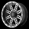 XD Series XD766 DIESEL  22X11 Satin Black with ClearCoat