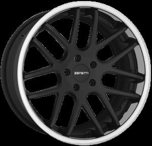 Zenetti Torino Flat Black Chrome Lip